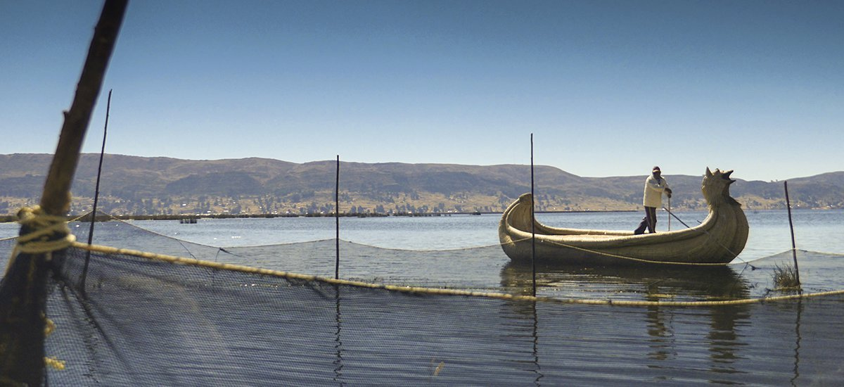 Boatman, Uros Islands, Lake Titicaca