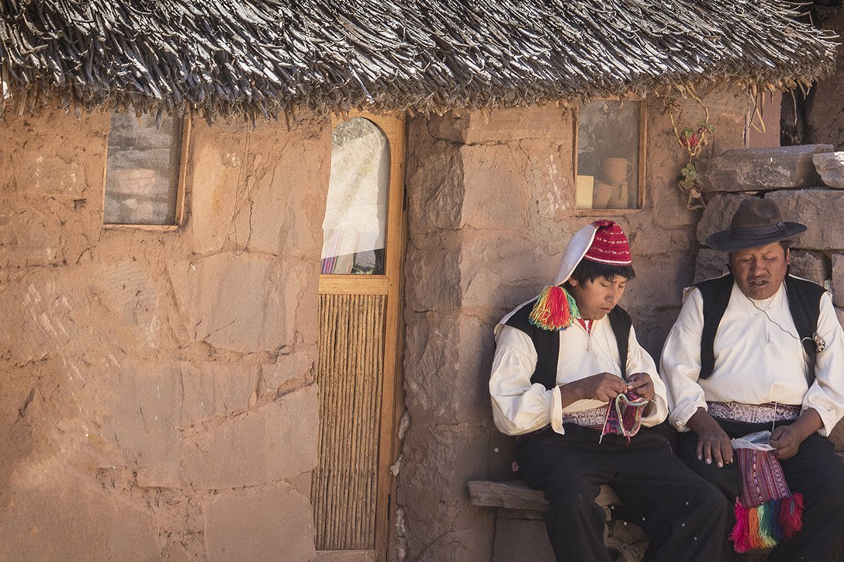 Taquile Island Knitting Men