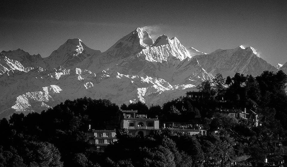Mt. Everest From Nagarkot, Nepal