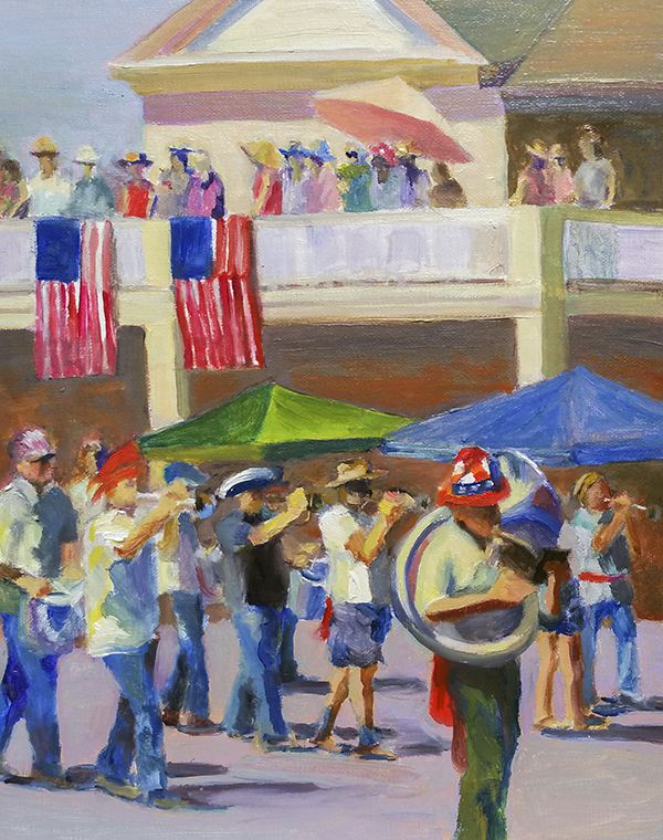 Oil Painting, 4th of July Parade in Sonoma, Calfornia