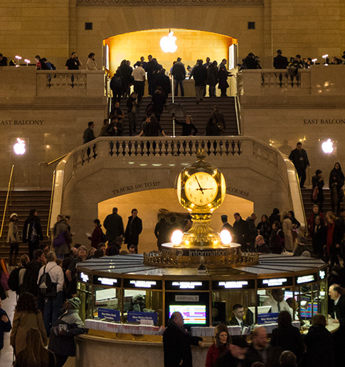 Grand Central Clock and Apple Symbol