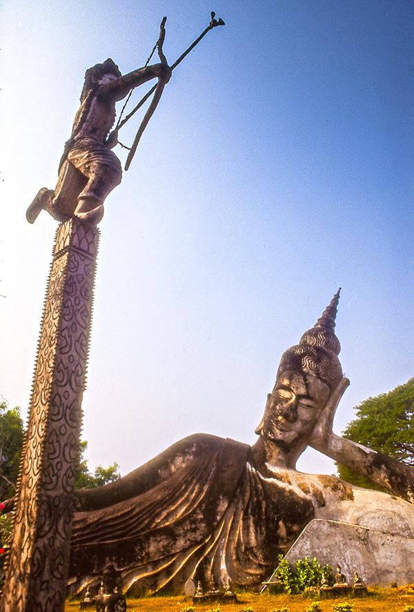 Reclining Buddha Buddha Park Laos