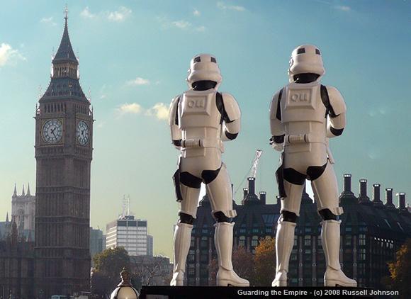 Star Wars Troopers Guarding Big Ben in London