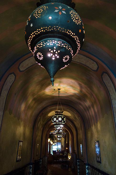 Moorish Lamps in Figueora Lobby