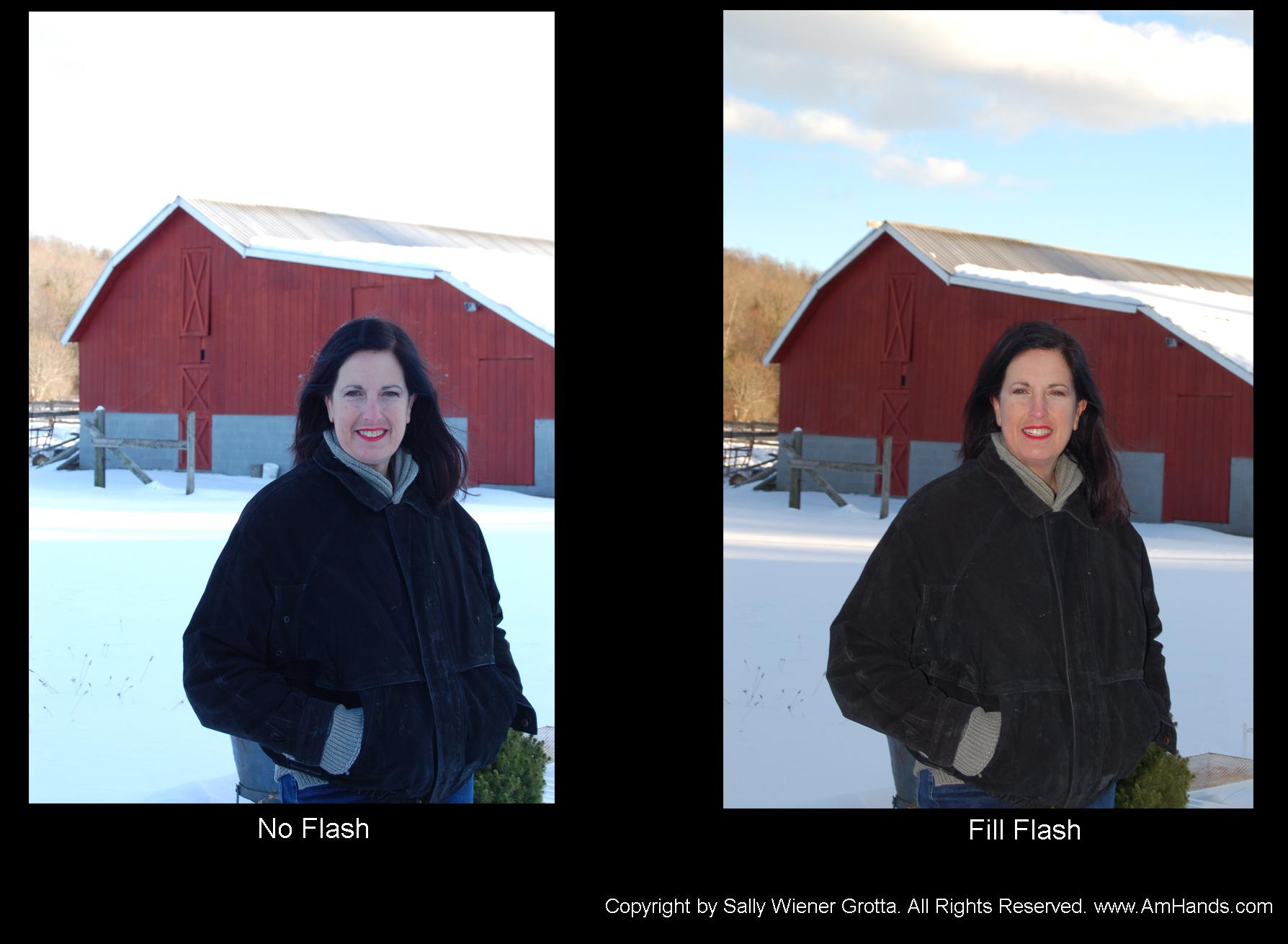 Fill flash comparison