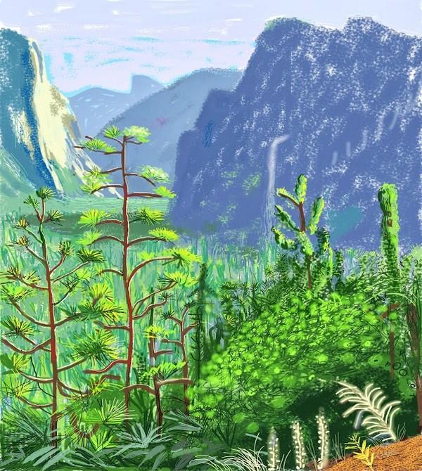 David Hockney, Yosemite I, October 16th 2011