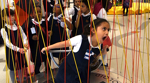 Kids at MoMath in New York City
