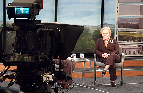 Madeline Albright at the Newseum