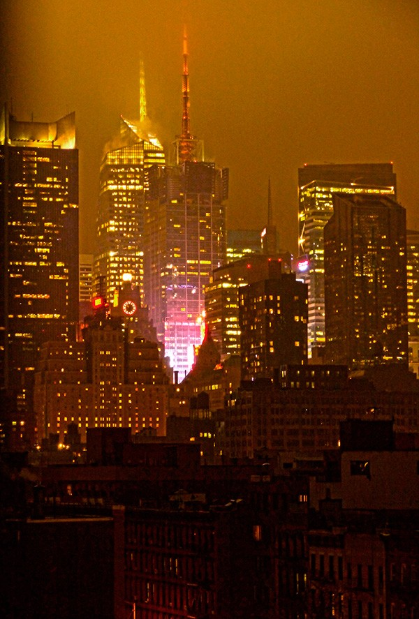 New York Skyline, Night
