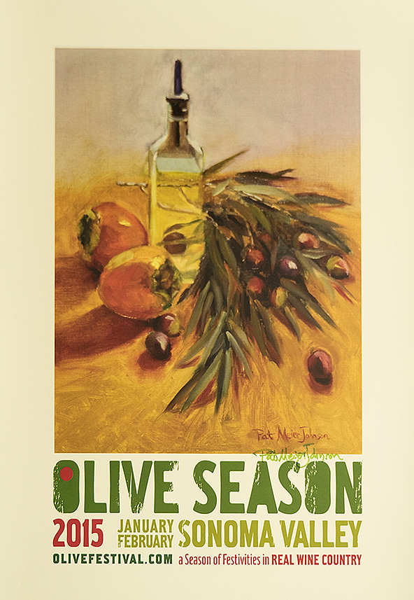 Olive Season Poster - Pat Meier-Johnson