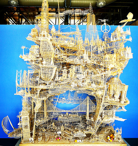 San Francisco constructed of toothpicks