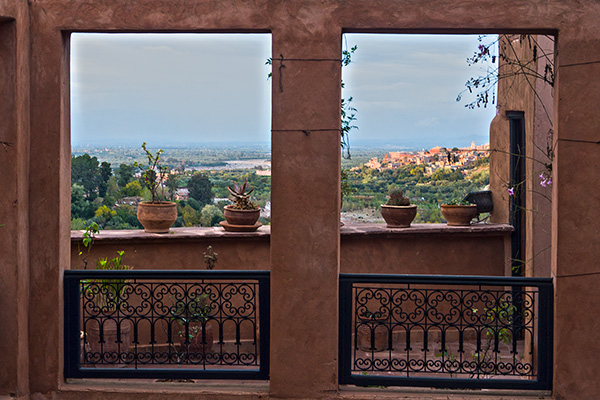 View From Kasbah toward Marrakech, Morocco