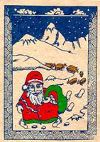 Santa in Nepal Christmas Card