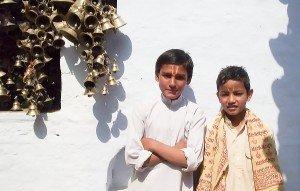 Boys in Bell Temple, Ranikhet, India