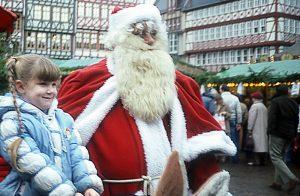 Santa In Frankfurt