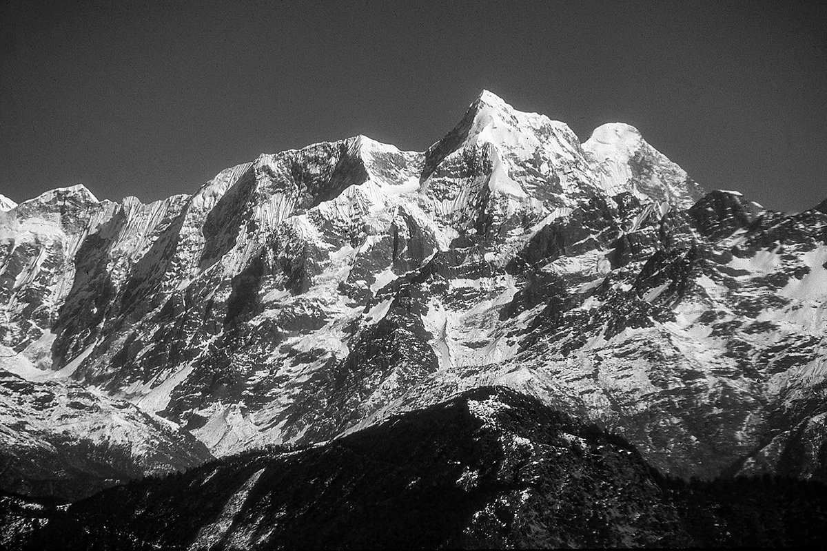 Scene from a helicopter flight to Mt. Everest