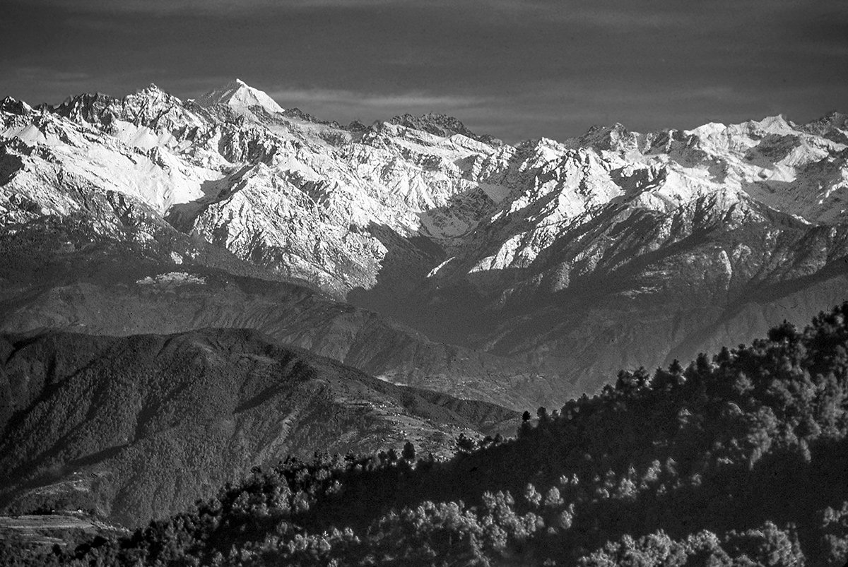 Mt Everest and the Himalaya from Nagarkot, Nepal