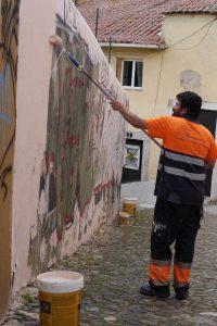 Painting Over Urban Art, Lisbon