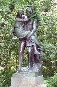 Hiawatha-Minnehaha Statue -Minneapolis