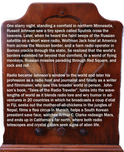 Tales of the Radio Traveler by Ruissell Johnson - Back Cover