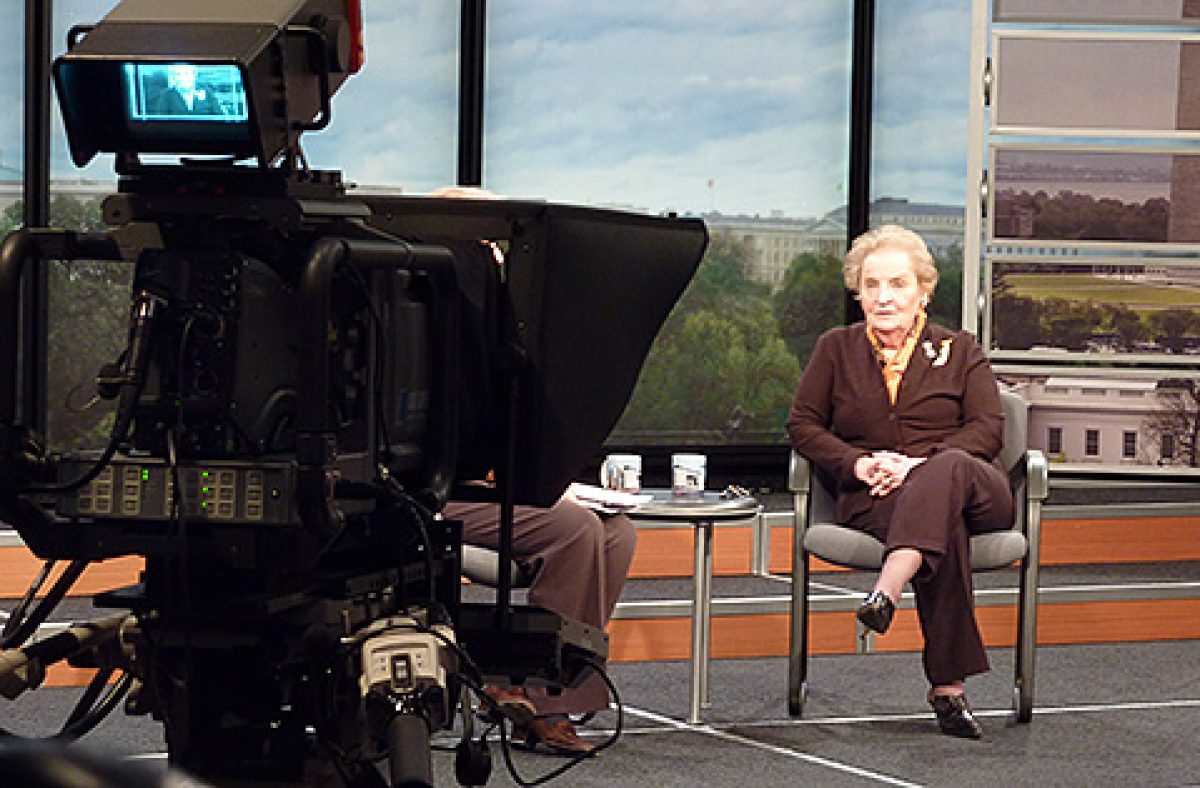 Day at the Newseum: Madeline Albright Meets J. Edgar Hoover